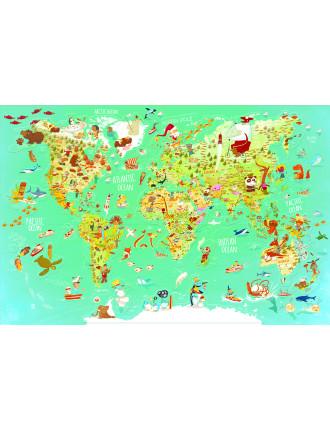 Carte Du Monde Fantastique Magnetique Version Anglaise