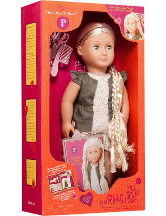 Pia Blonde Hairgrow Doll