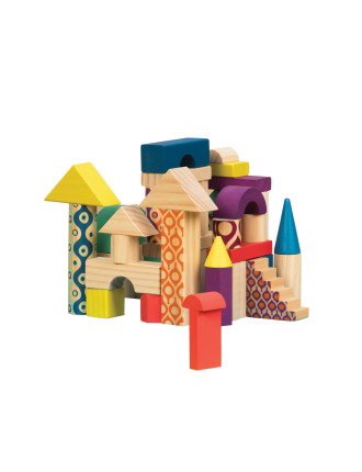 40pcs Wooden Blocks In A Bag
