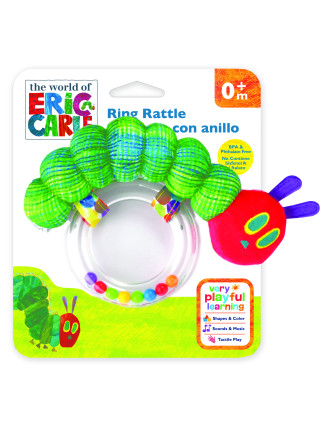 The World Of Eric Carle Very Hungry Caterpillar Ring Rattle