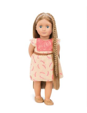 Brown Hair Grow Doll