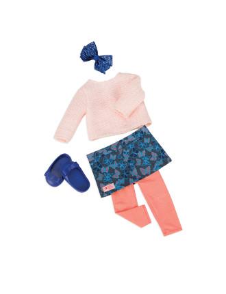 Butterfly Skirt With Heart Leggings
