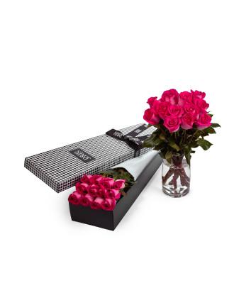 12 Pink Premium Long Stem Roses