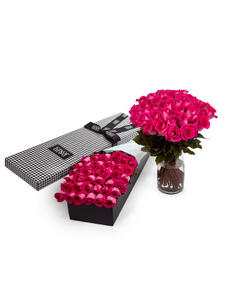 36 Pink Premium Long Stem Roses